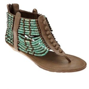 NWOT Coconuts by Matisse Aztec gladiator sandals